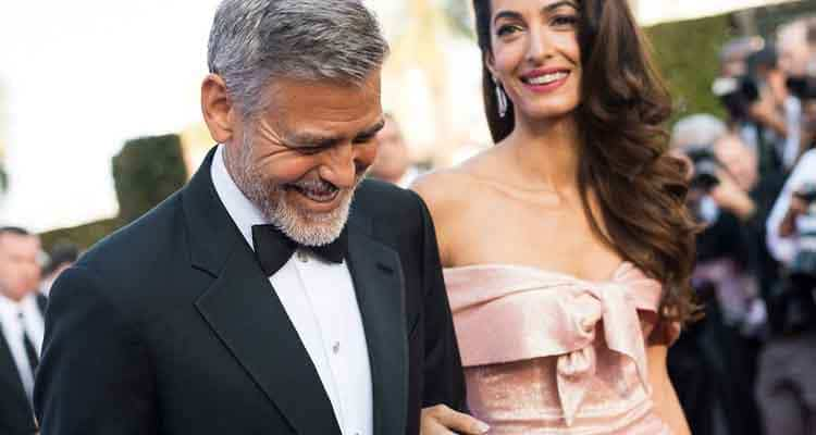 George Clooney is older to his lawyer wife Amal Clooney by 17 years.