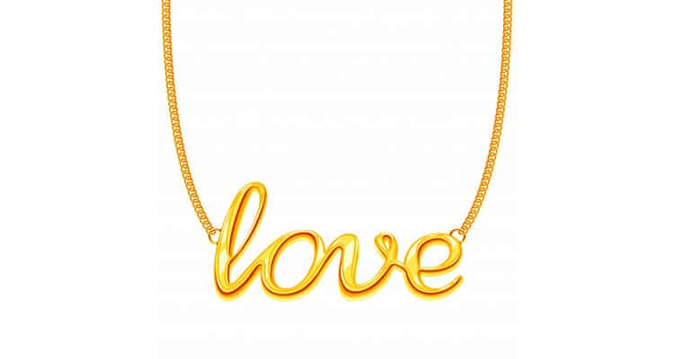 I love you necklaces