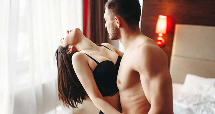 Couple during sex
