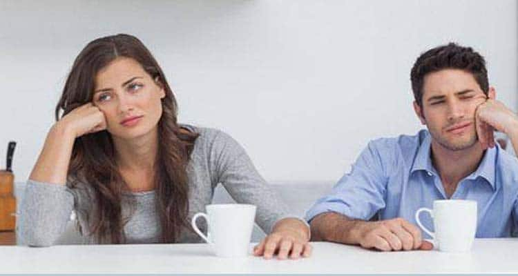 No communication between couple