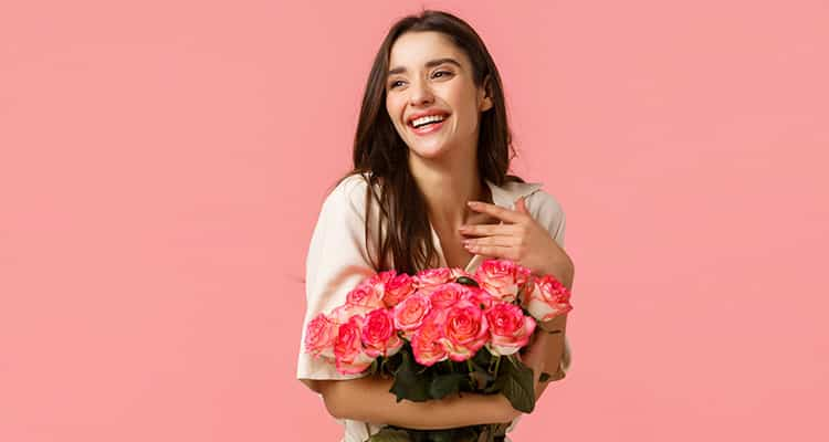 It will put a smile on her face and fresh roses