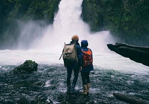 Both are seeing waterfall