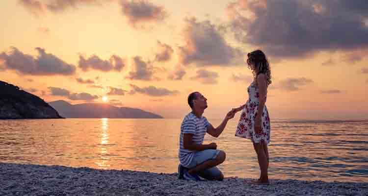 propose by the sea