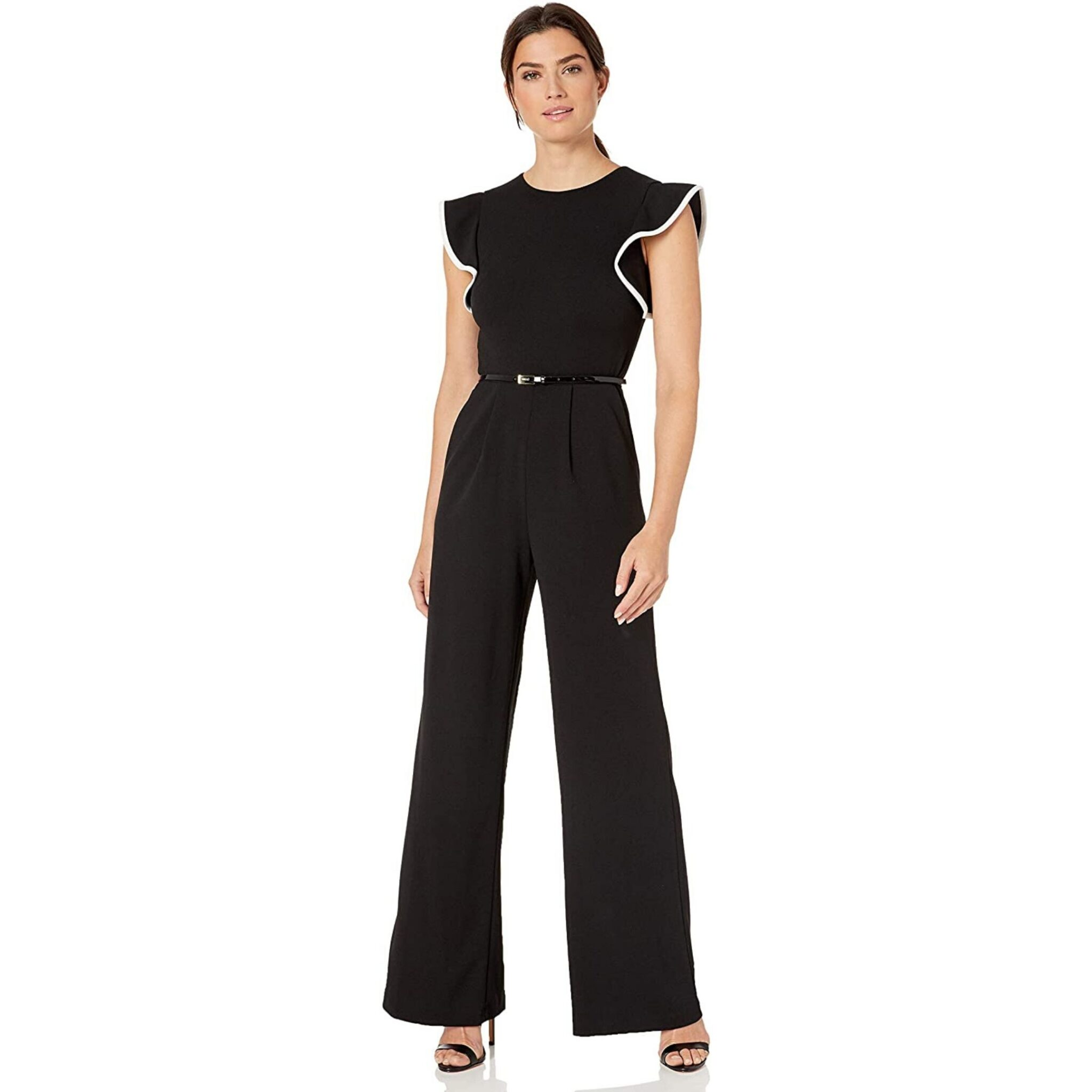 what to wear on a first date - black jumpsuit