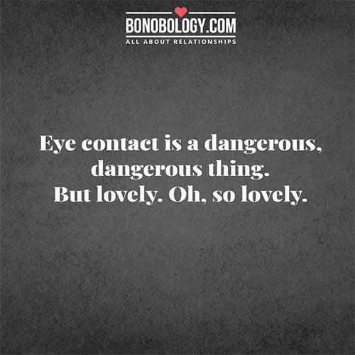 Quotes on eye contact