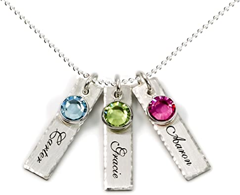AJ's Collection Store personalized birthstone necklace