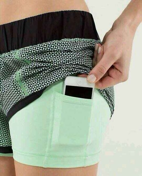 Active Wear Shorts With Cellphone Holder