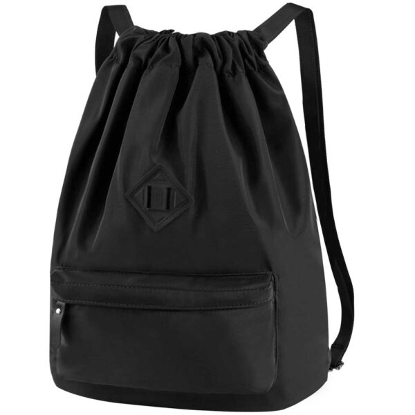 Drawstring Backpack with Shoe Compartment