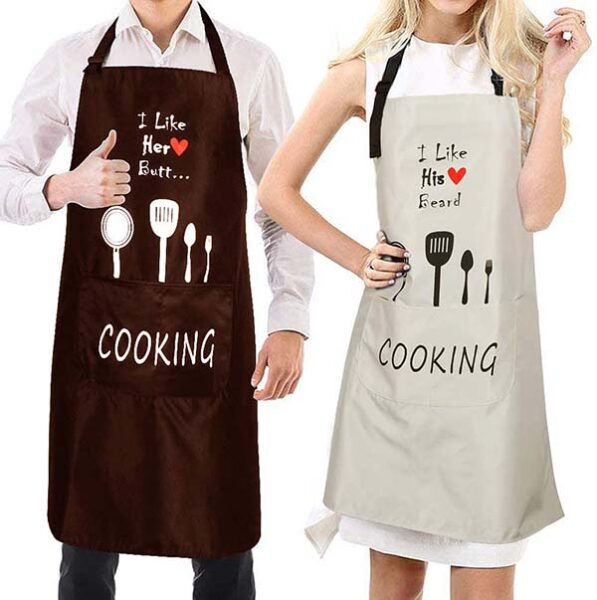 matching Mr and Mrs aprons!