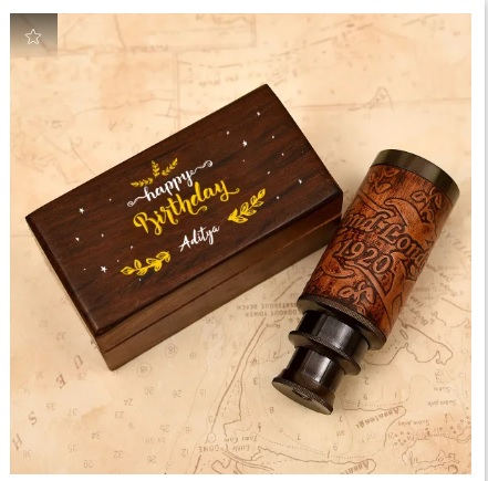 Telescope in Personalized Wooden Box