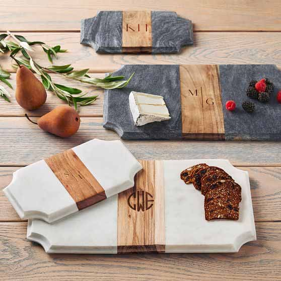 Marble and Wooden Cheeseboard
