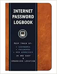 logbook for storing passwords