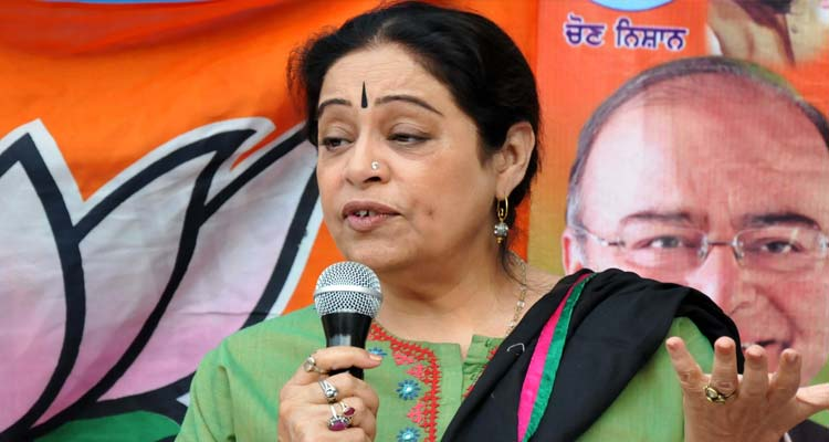Kirron Kher campaigning for the elections
