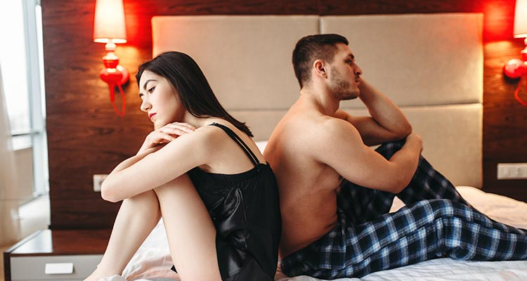 Lack of intimacy with your spouse