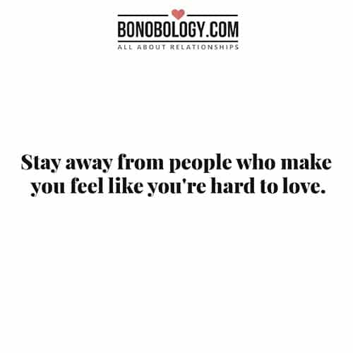 stay away from people quote