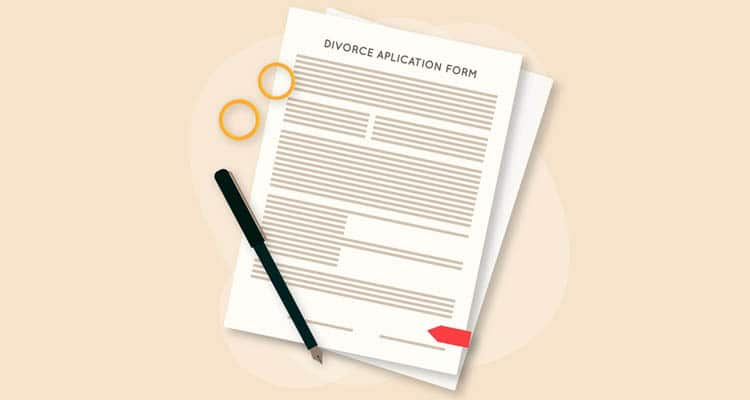 how to file for divorce without confronting wife