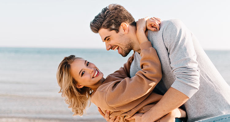 Couple sharing good time