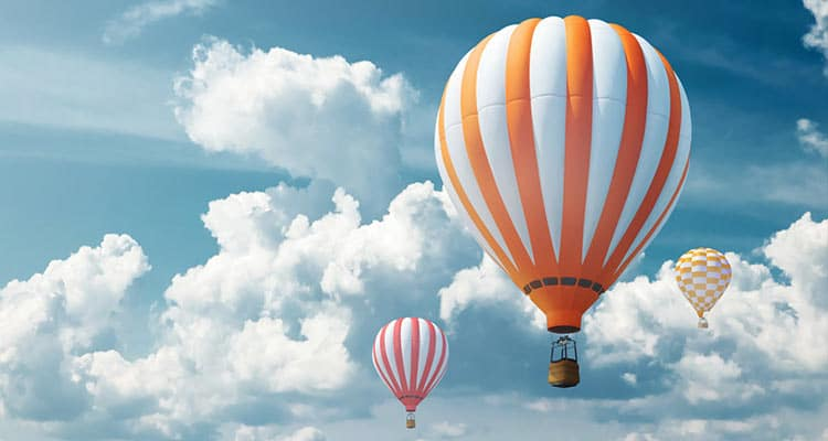 Go for hot air ballooning together