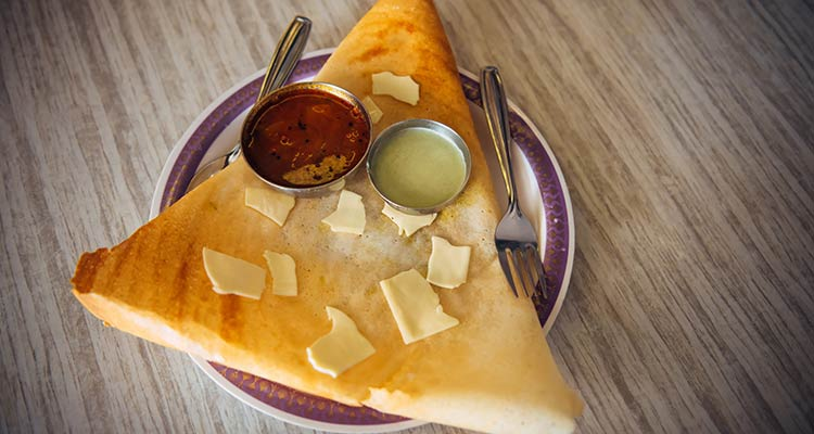 indian dish-cheese dosa