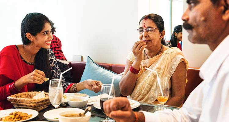 Indian Family having food