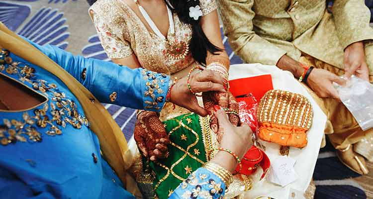 Indian couple in arranged marriage