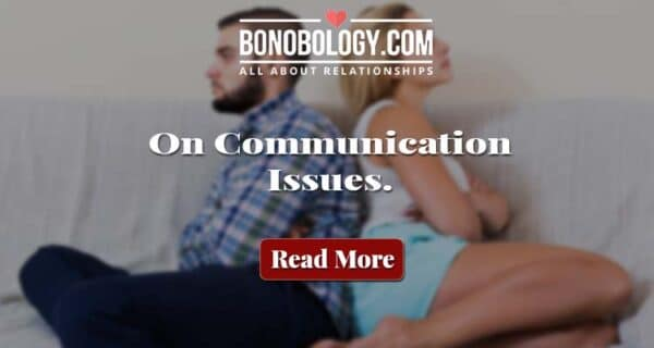 Silent treatment in marriage starts with communication issues
