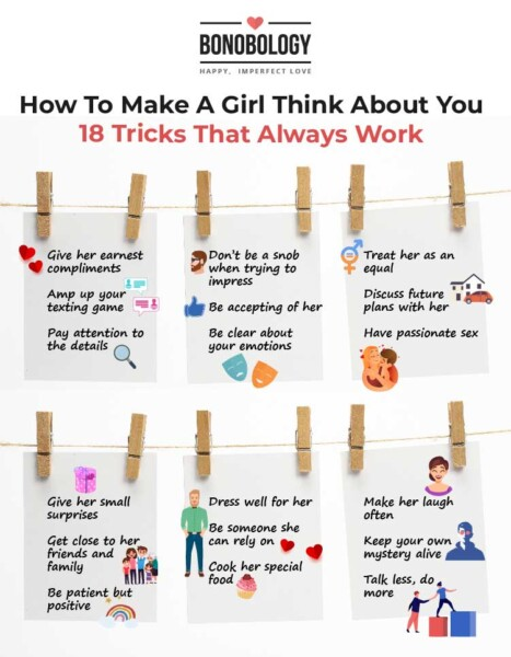 infographic - make a girl think about you