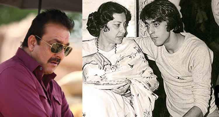 Sanjay Dutt with his mom Nargis