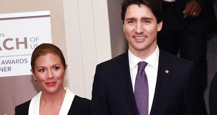 Trudeau with wife