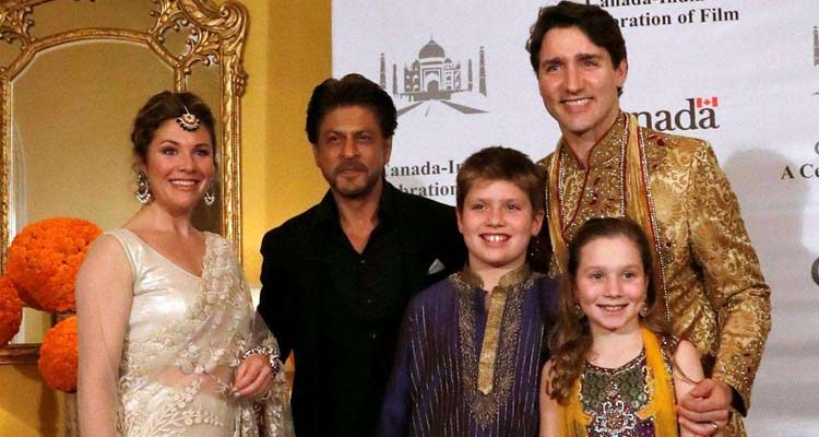Justin Trudeau with family