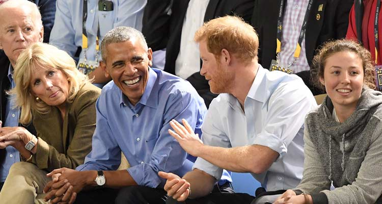 Barack and Harry have given us some major bromance goals.