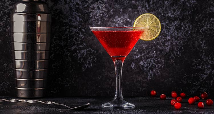 Chill your martini glass beforehand and keep aside.