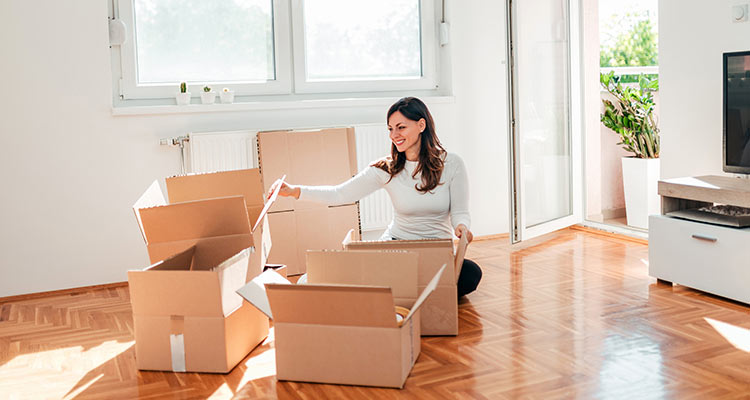 setting up a new home after divorce