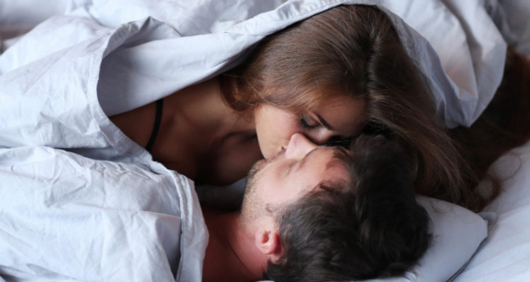 Kissing can cause a decrease in the stress hormone, cortisol, and boost the serotonin levels in the brain.
