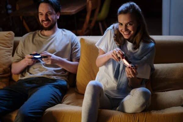 Perks of dating a gamer include gaming with them!