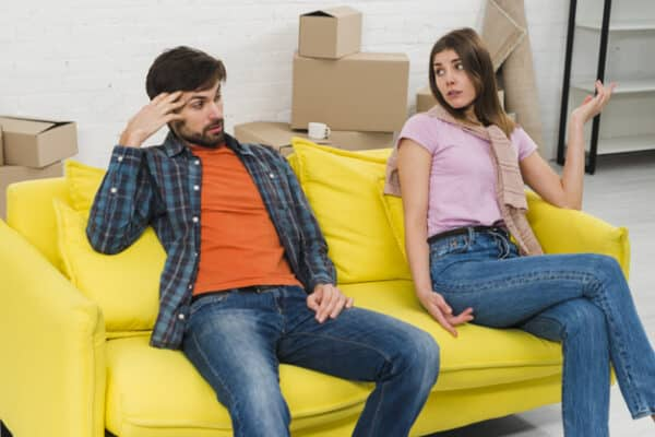 A disrespectful husband thinks he's being bothered by his wife when he's spoken to