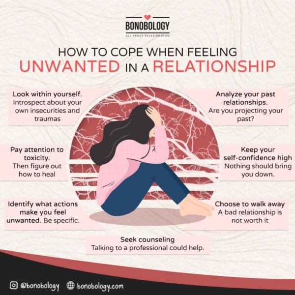 Infographic on How to cope when feeling unwanted in a relationship