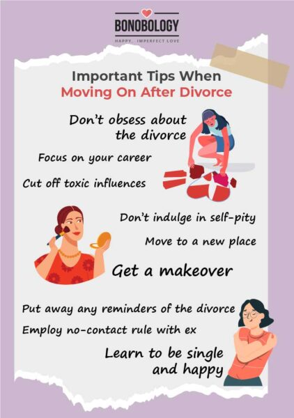 Tips to move on after divorce
