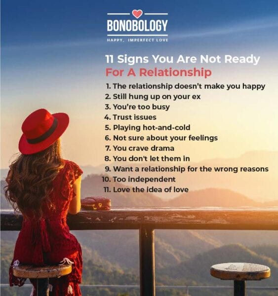 infographic on not ready for a relationship signs