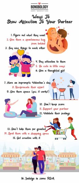 Ways to show affection to your partner