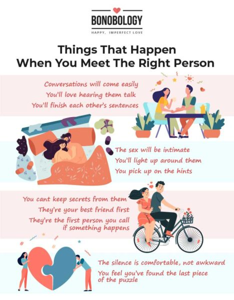 When you meet the right person you know it infographic
