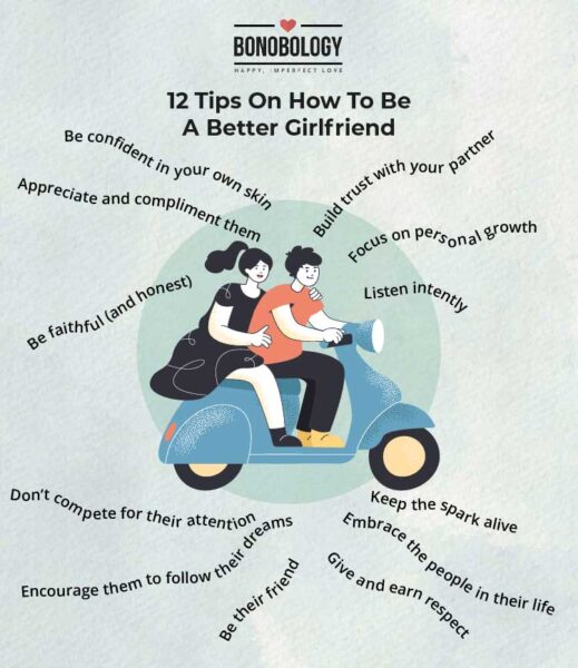 infographic on how to be a better girlfriend