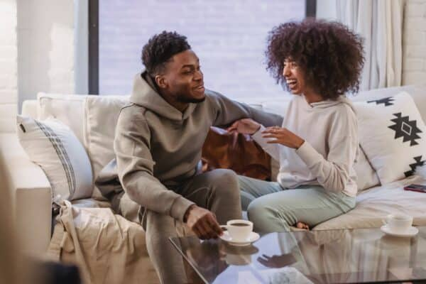 magnetic attraction between two people means you can talk easily