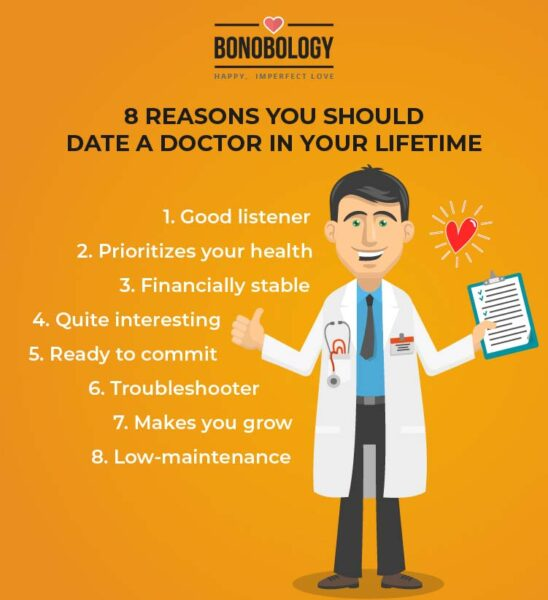 infographics for reasons you should date a doctor